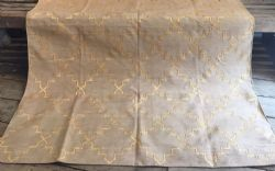 Coffee Colour Dhurrie with Gold Zari Islamic Design - <b>sold<b>